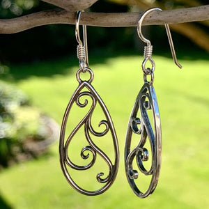 Sterling Silver Filigree Drop Earrings