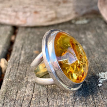 Baltic Amber Ring, Rowena Watson Designs