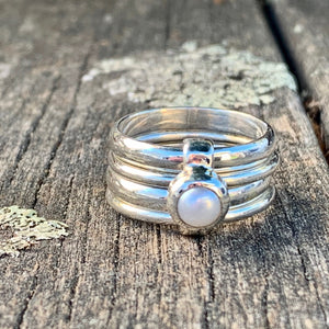Freshwater Pearl Unity Spinner Ring, Rowena Watson Designs