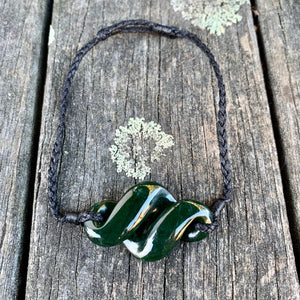 Large Kahurangi Rau Kumara Bracelet, New Zealand Greenstone