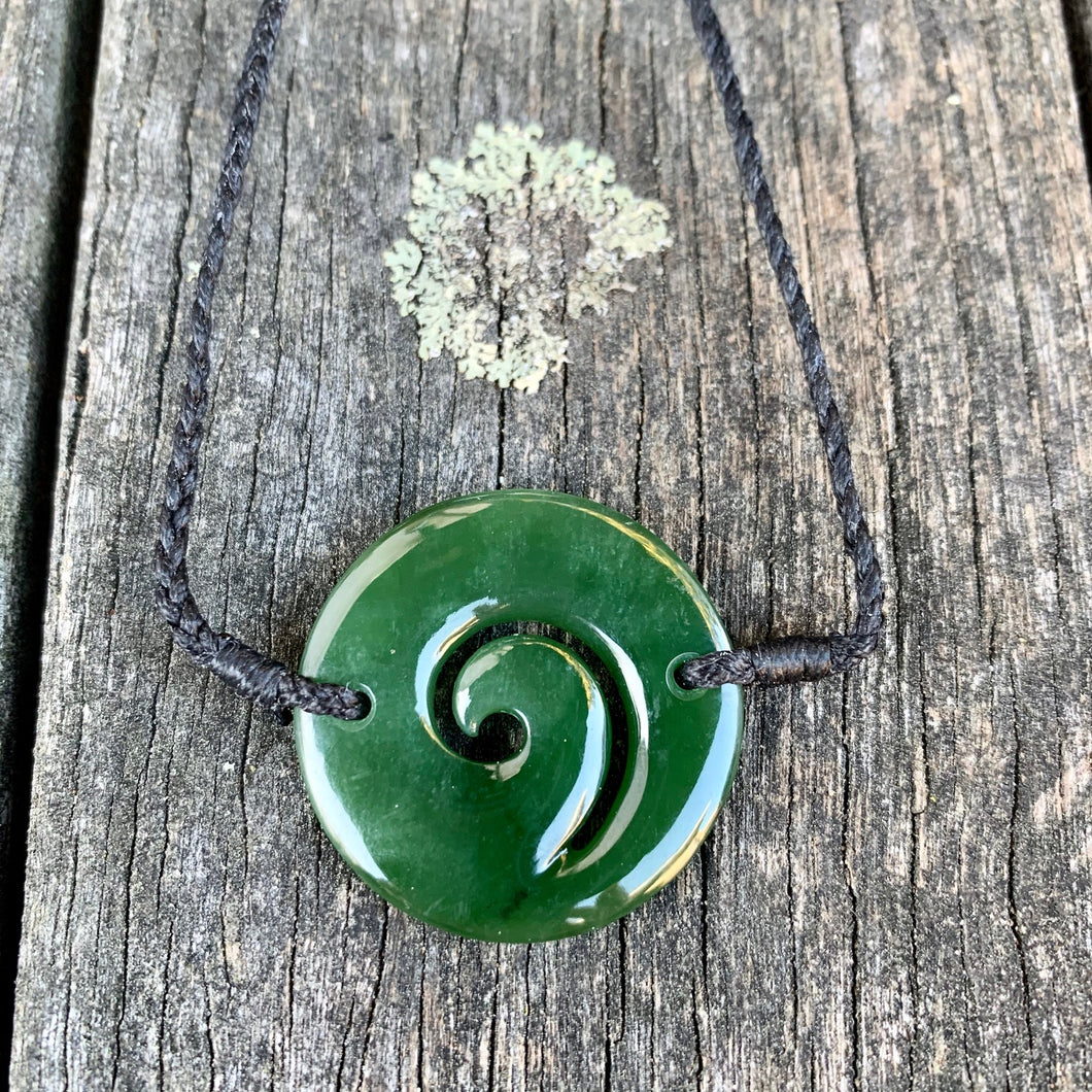Koru Marsden Flower Bracelet, New Zealand Greenstone