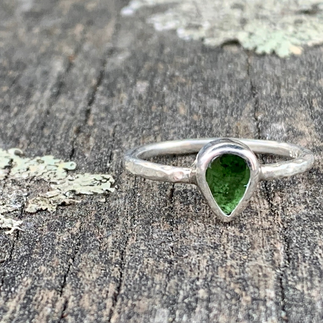 Green Tourmaline Ring, Rowena Watson Designs
