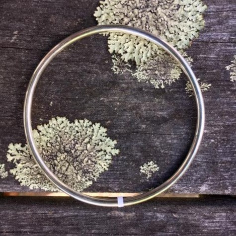 Solid Sterling Silver Smooth Bangle 3mm, Rowena Watson Designs