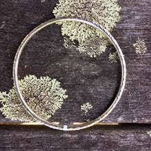Solid Sterling Silver Hammered Bangle, 3mm, Rowena Watson Designs