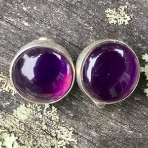 Amethyst Clip On Earrings, Rowena Watson Designs