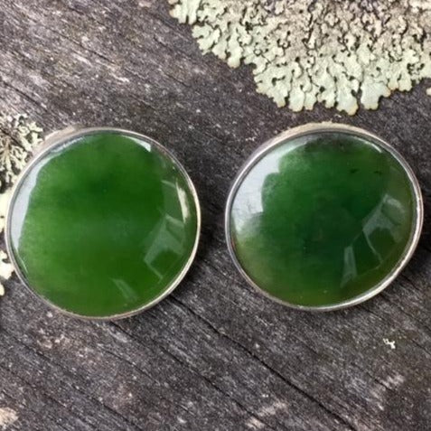 New Zealand Greenstone Clip On Earrings, Rowena Watson Designs
