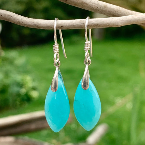 Marquise Amazonite Earrings, Rowena Watson Designs