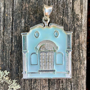 New Regent Street Pendant, Sterling Silver and Glass Enamel, Pastel Sea Green, Rowena Watson Designs