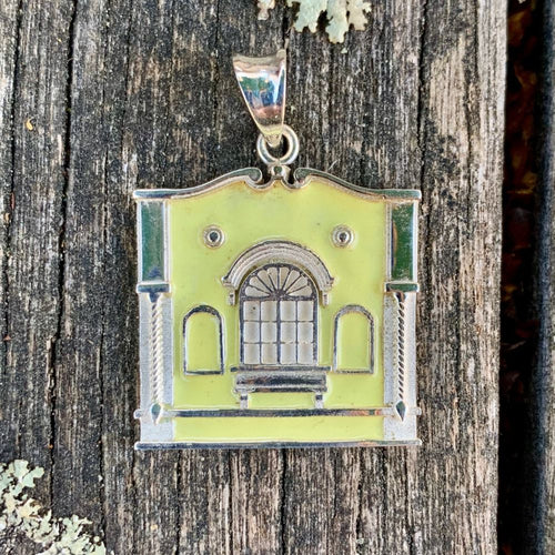 New Regent Street Pendant, Sterling Silver and Glass Enamel, Pastel Yellow, Rowena Watson Designs