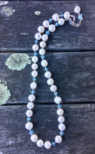 Aquamarine and Fresh Water Pearl Necklace, Rowena Watson Designs