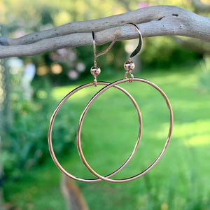 Rose Gold Fill Smooth Hoop Earrings