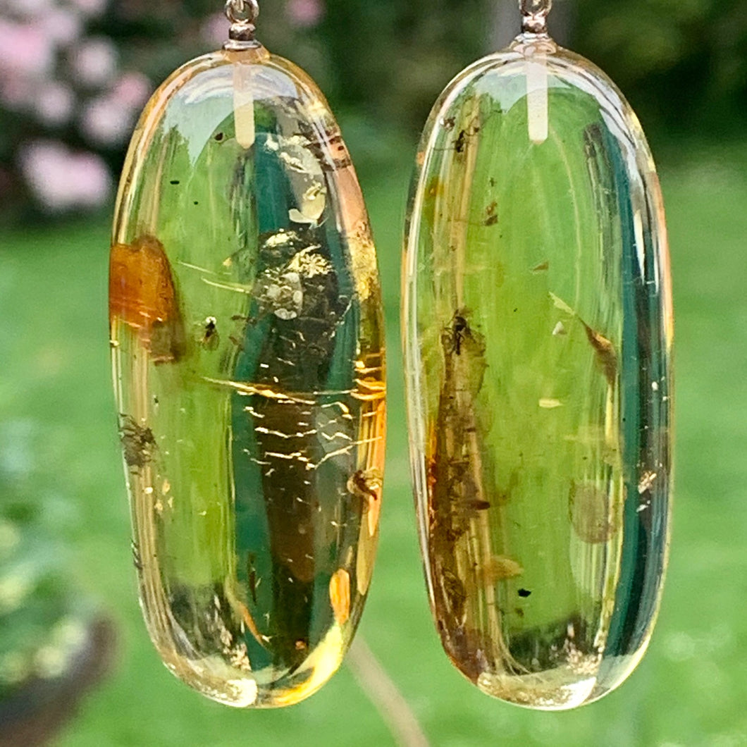 Huge Baltic Amber Earrings, Rowena Watson Designs