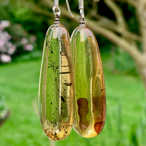 Large Baltic Amber Earrings, Rowena Watson Designs