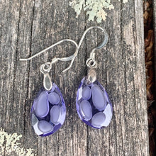Translucent Purple Swarovski Earrings