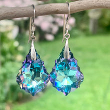 Swarovski Drop Earrings, Pale Purple