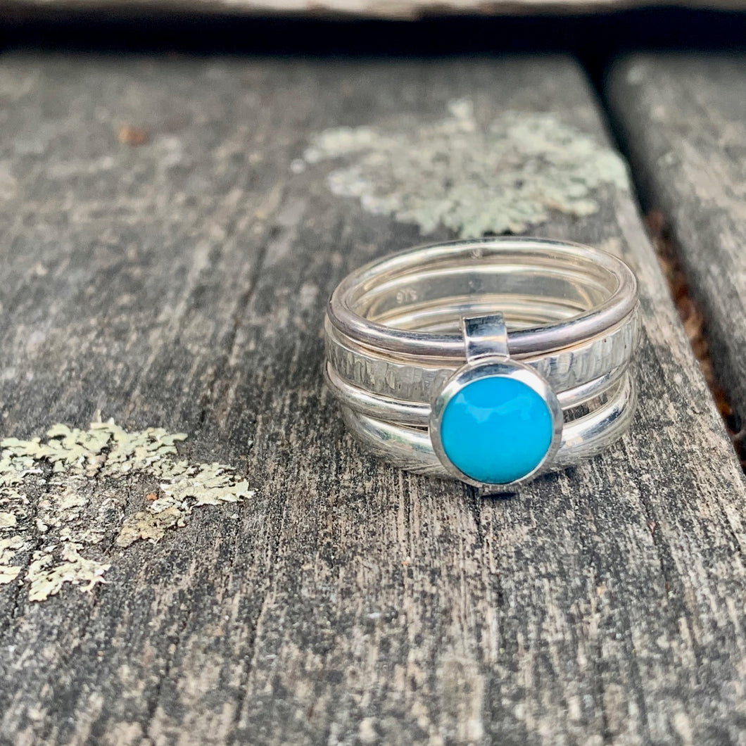 Sleeping Beauty Turquoise Unity Spinner Ring, Rowena Watson Designs