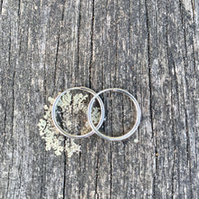 Sterling Silver Endless Hoop Earrings, 18 mm
