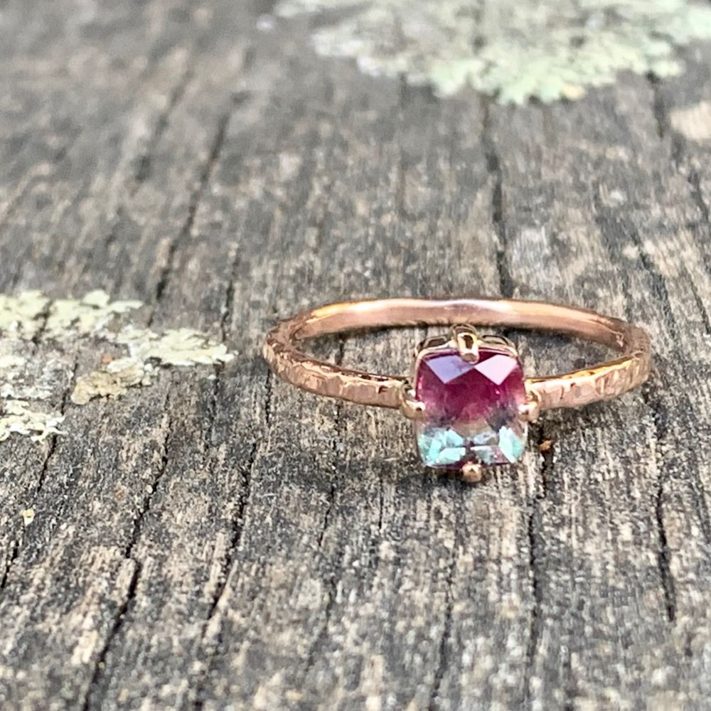 Bi-Colour Tourmaline and 9ct Gold Ring, Rowena Watson Designs