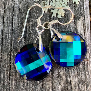Swarovski Drop Earrings, Round