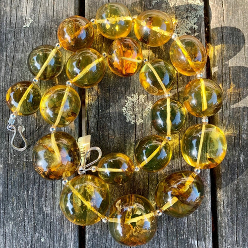 Graduated Lithuanian Amber Necklace, Rowena Watson Designs