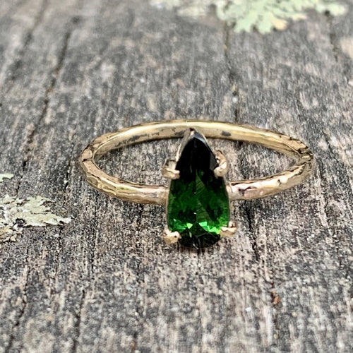 9ct Yellow Gold and Green Tourmaline Ring, Rowena Watson Designs
