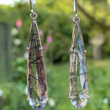 Fine Tourmalinated Quartz Earrings, Rowena Watson Designs