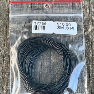 0.6MM Black Stretch Magic, 5 Metre Bag