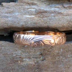 9ct Red Gold Embossed Ring, Rowena Watson Designs