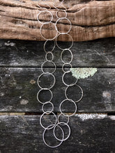 Sterling Silver Circle Link Chain Necklace, Rowena Watson Designs