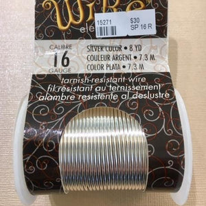 Non Tarnish Wire, Silver 16g