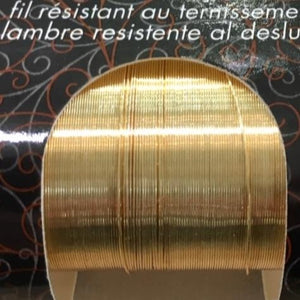 Non Tarnish Wire, Gold 22g