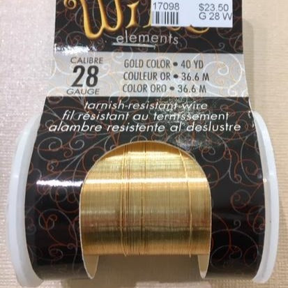 Non Tarnish Wire, Gold 28g