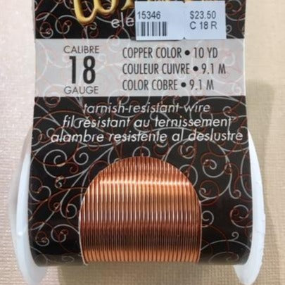 Non Tarnish Wire, Copper 18g
