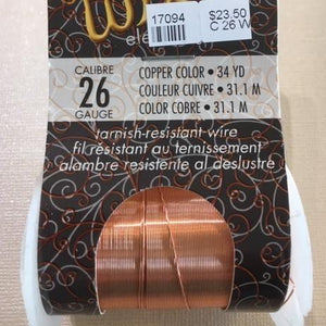 Non Tarnish Wire, Copper 26g