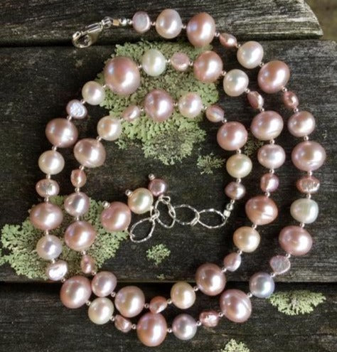 Pink Fresh Water Pearl Necklace, Rowena Watson Designs