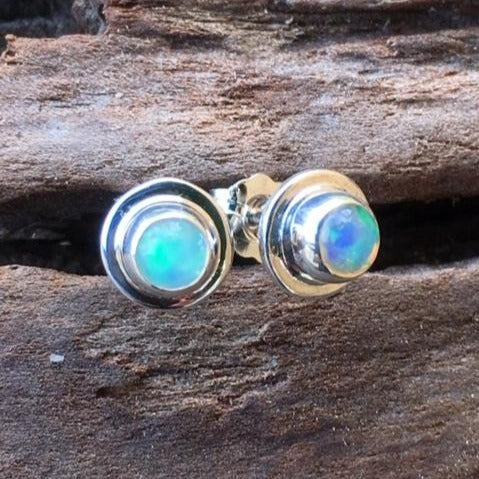 Australian Opal Stud Earrings, Rowena Watson Designs