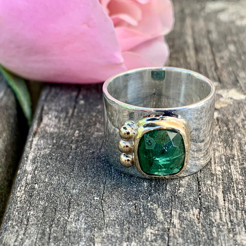 Green Tourmaline New Horizons Ring, Rowena Watson Designs