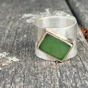 Pounamu New Horizons Ring, Rowena Watson Designs