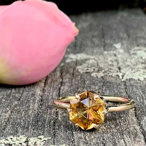 Brazilian Citrine and 9ct Yellow Gold Ring, Rowena Watson Designs
