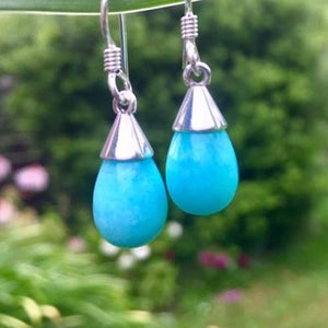 Amazonite Drop Earrings, Rowena Watson Designs