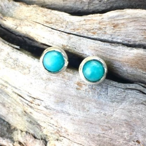 Amazonite Stud Earrings, Rowena Watson Designs