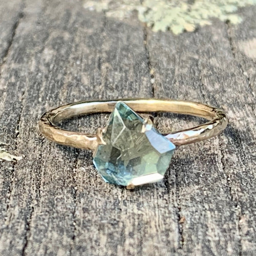 9ct Yellow Gold and Medina Aquamarine Ring, Rowena Watson Designs