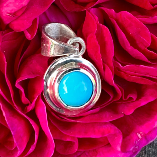 Sleeping Beauty Turquoise Pendant, Rowena Watson Designs