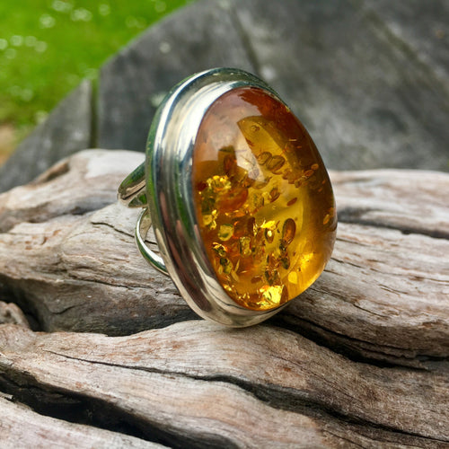 Baltic Amber Statement Ring, Rowena Watson Designs