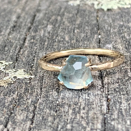 Aquamarine Ring in 9ct Yellow Gold, Rowena Watson Designs