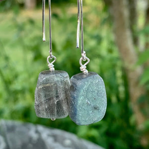 Finnish Labradorite and Sterling Silver Earrings
