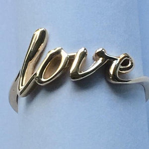 Love Ring, 14ct Gold