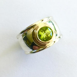 9ct Yellow Gold Peridot Ring, Rowena Watson Designs