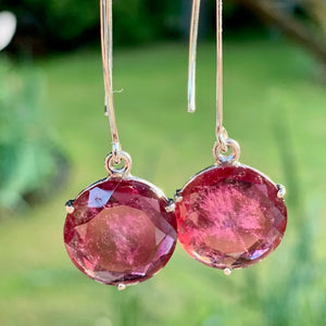 Tourmaline and Sterling Silver Earrings, Rowena Watson Designs