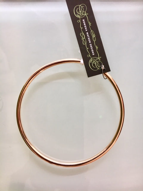 Solid Rose Gold Smooth Bangle, Rowena Watson Designs